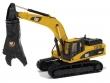 1:50 CAT Excavadora Hidráulica 336D L con Cortador CAT S365C