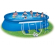 """18' x 10' x 42"""" Oval Frame Inflatable Pool with Filter Pump"""